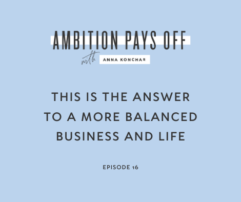 This is the Answer to a More Balanced Business and Life