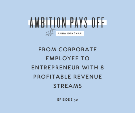 From Corporate Employee to Entrepreneur with 8 Profitable Revenue Streams