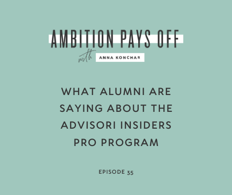 What Alumni are Saying About the Advisori Insiders PRO Program